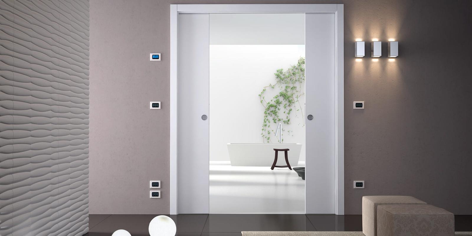 Doubles portes galandage luce extension eclisse - Porte a galandage epaisseur cloison ...