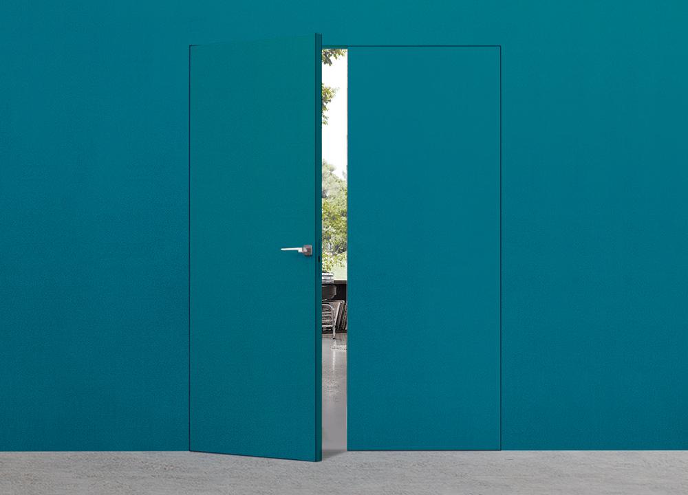 Porte invisible double syntesis battant extension for Porte invisible