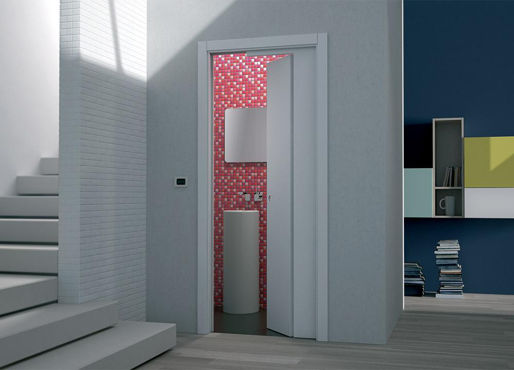 Porte coulissante pour petites pi ces eclisse eclisse for Porte battante salle de bain