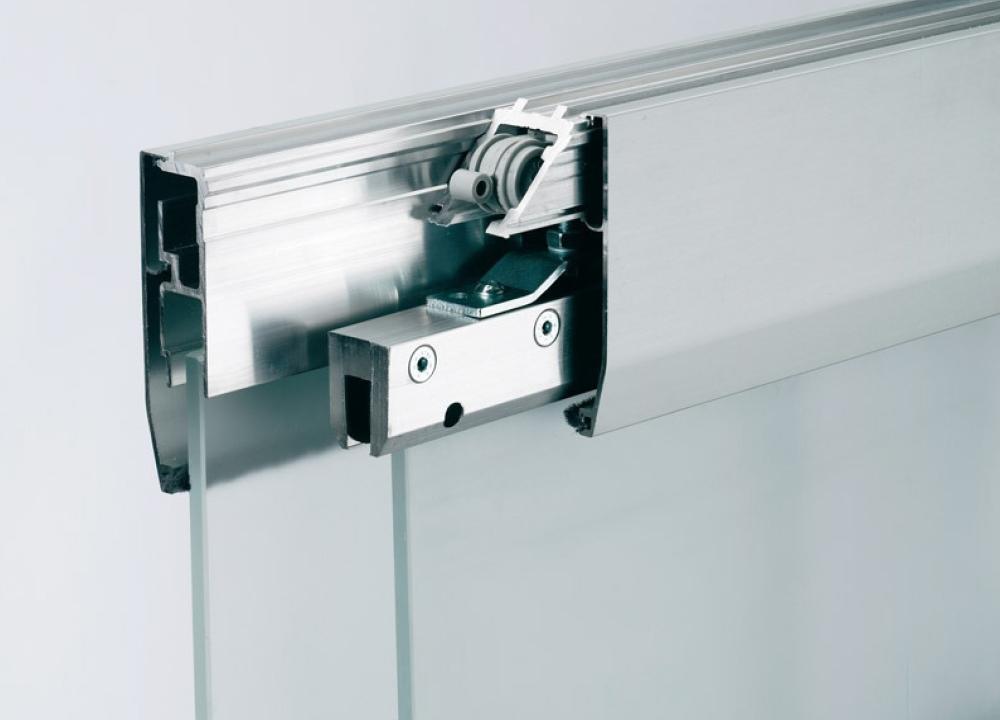 Rail pour porte coulissante tout verre easy eclisse france for Poser une porte coulissante en applique