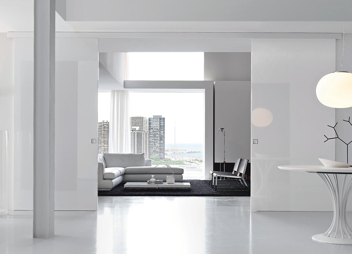 Porte d 39 int rieur design haut de gamme eclisse eclisse france - Porte interieur blanc laque ...