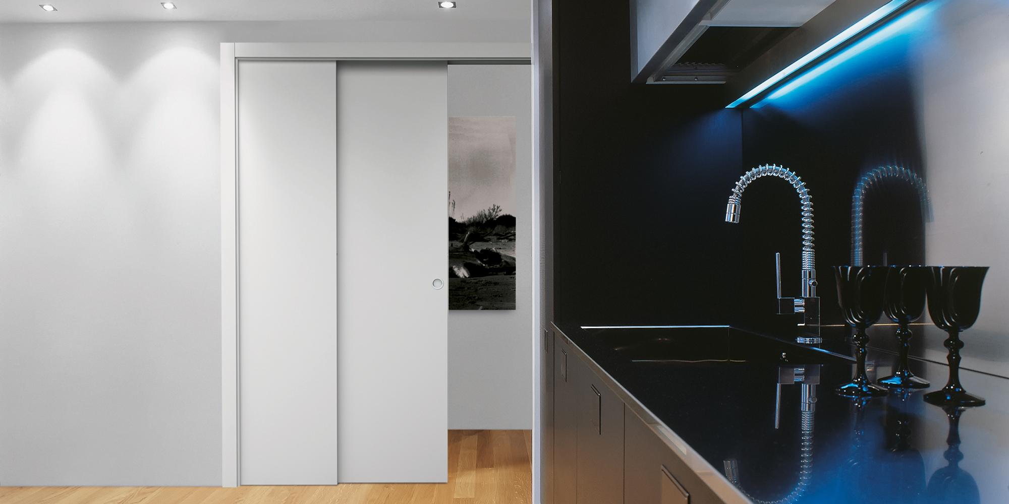 porte coulissante galandage t lescopique eclisse. Black Bedroom Furniture Sets. Home Design Ideas