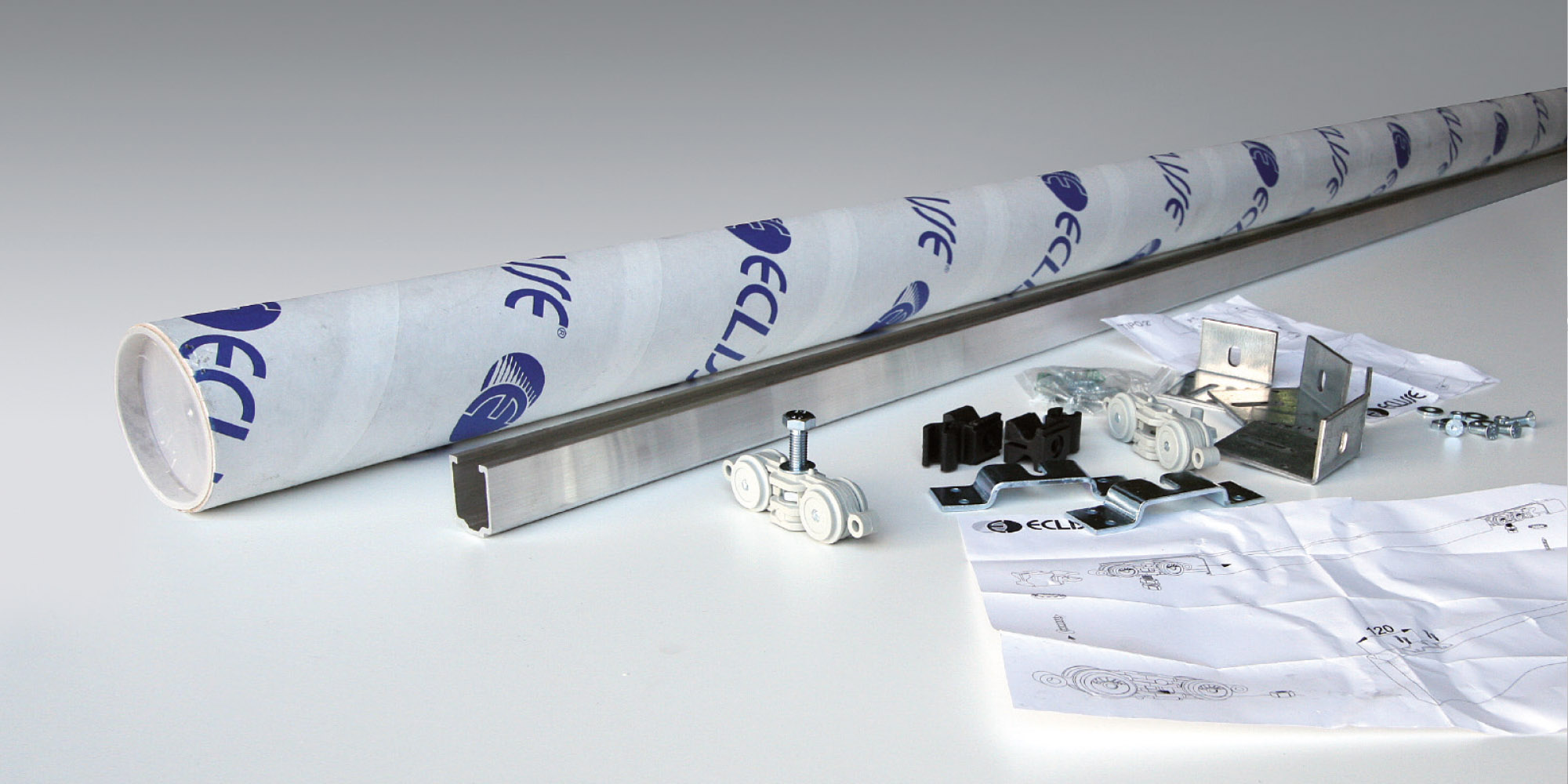 rail basic pour porte coulissante bois eclisse eclisse france. Black Bedroom Furniture Sets. Home Design Ideas