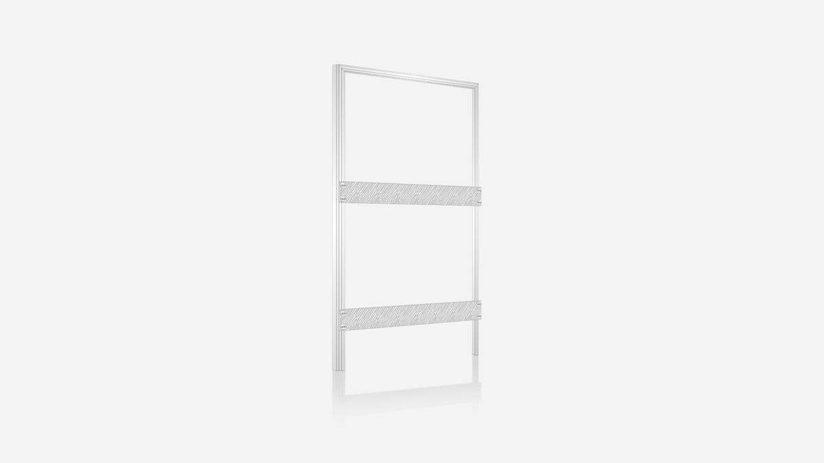 Double porte invisible syntesis battant extension for Peindre l aluminium
