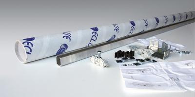 Rail k751 pour porte coulissante tout verre pose en - Rail pour porte coulissante en applique ...